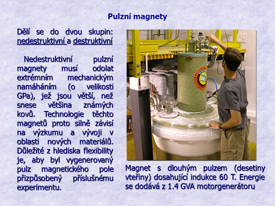Pulzní magnety Dělí se do dvou skupin: nedestruktivní a destruktivní.