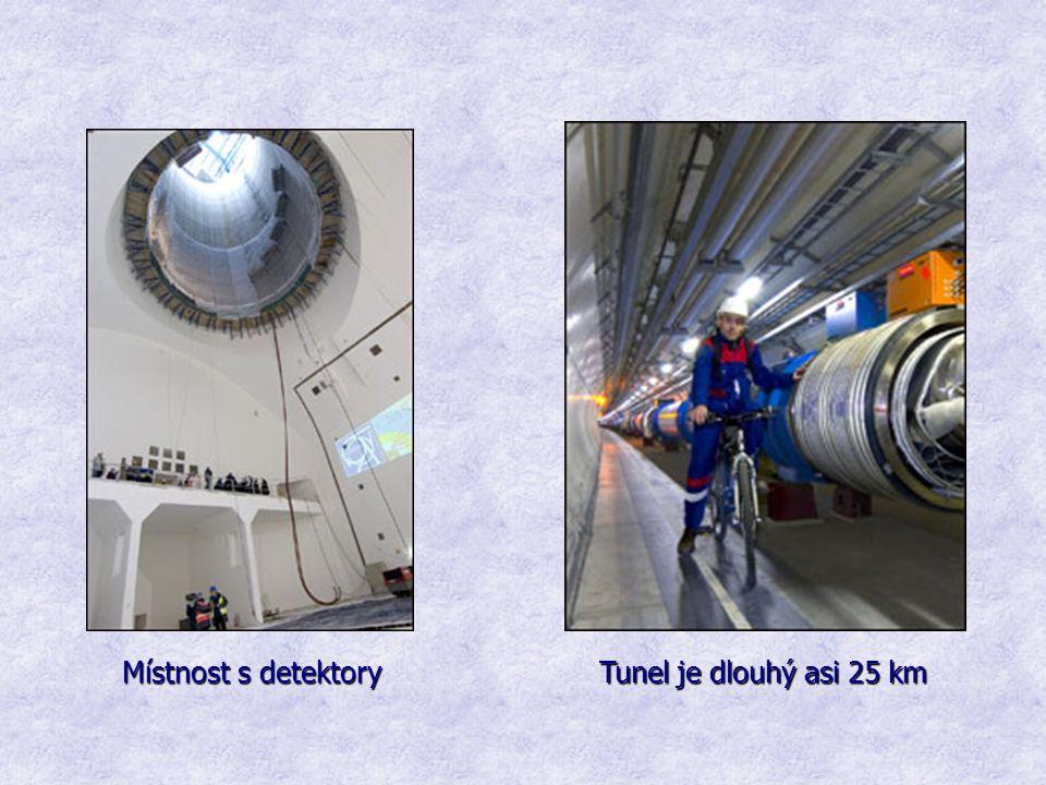 Místnost s detektory Tunel je dlouhý asi 25 km