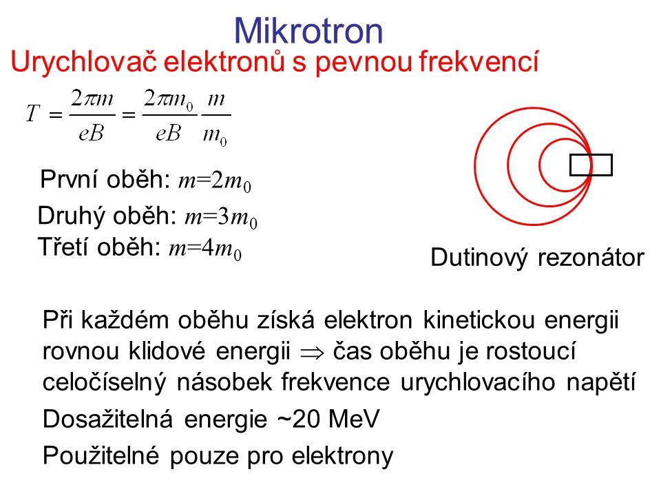 Urychlovač elektronů s pevnou frekvencí