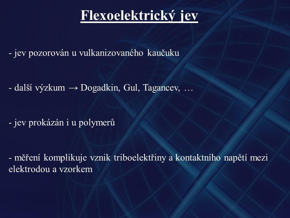 Flexoelektrický jev jev pozorován u vulkanizovaného kaučuku