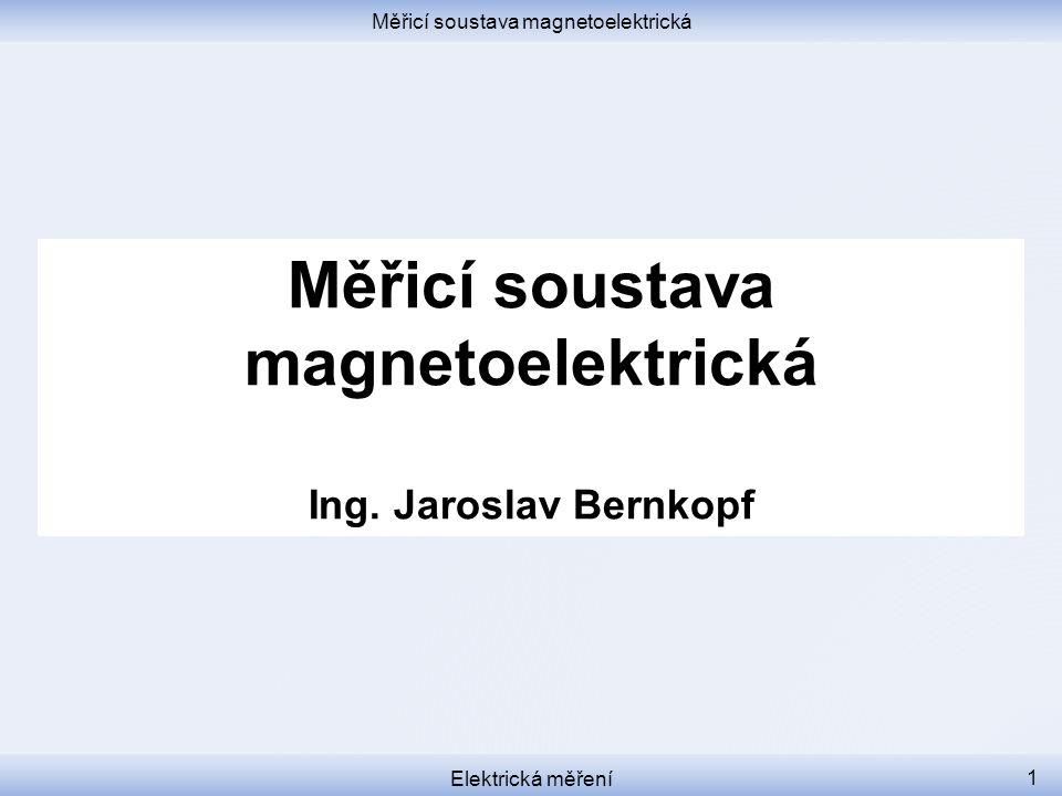 Měřicí soustava magnetoelektrická