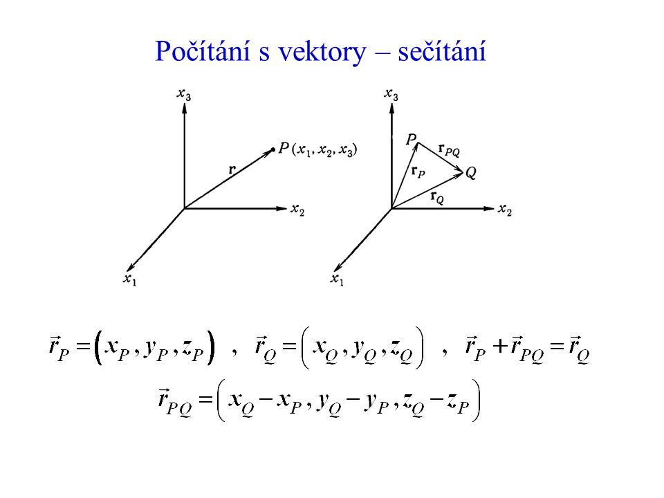 Počítání s vektory – sečítání