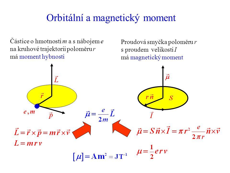 Orbitální a magnetický moment