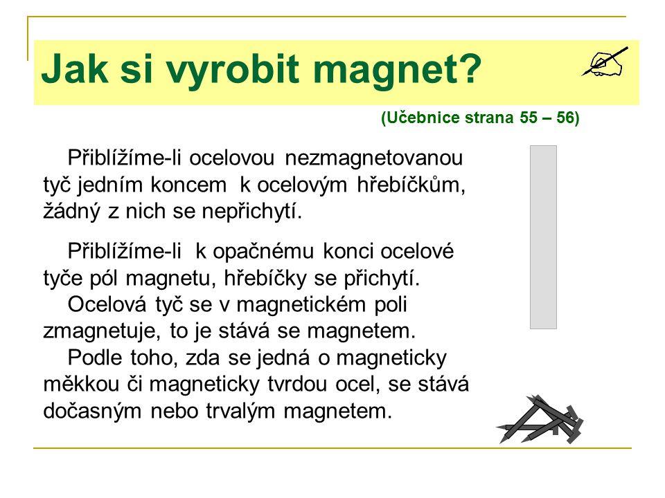 Jak si vyrobit magnet (Učebnice strana 55 – 56)