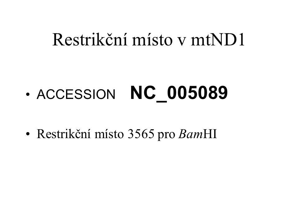 Restrikční místo v mtND1