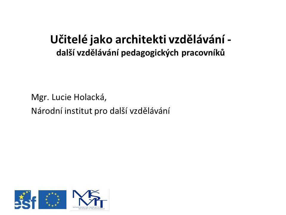 Mgr. Lucie Holacká, Národní institut pro další vzdělávání
