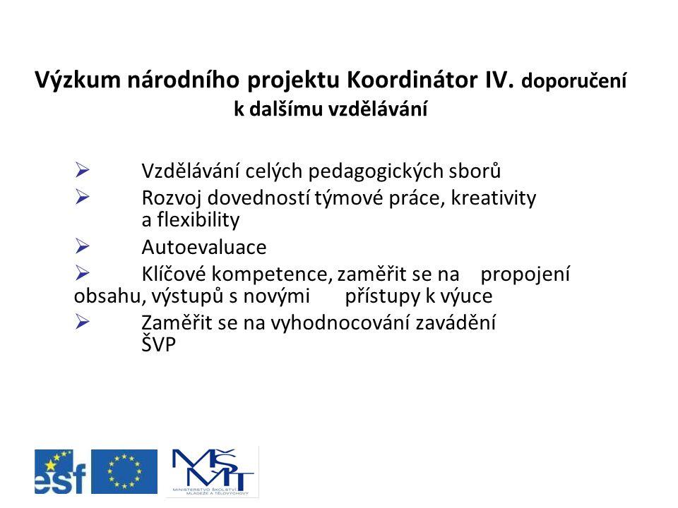 Výzkum národního projektu Koordinátor IV