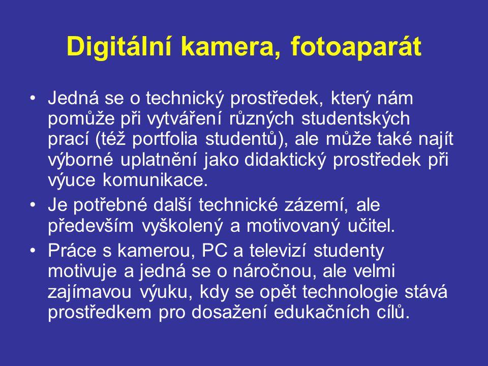 Digitální kamera, fotoaparát