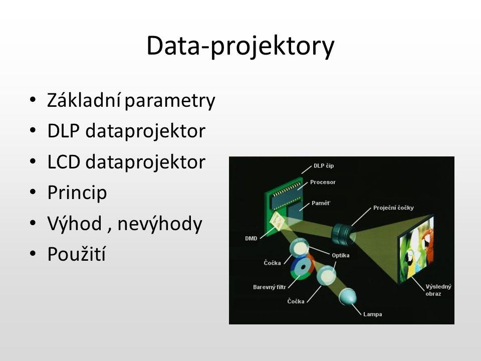 Data-projektory Základní parametry DLP dataprojektor LCD dataprojektor