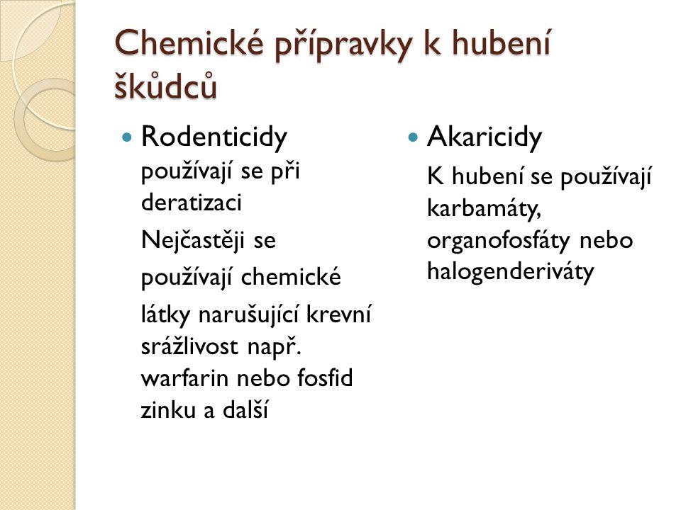 Chemické přípravky k hubení škůdců