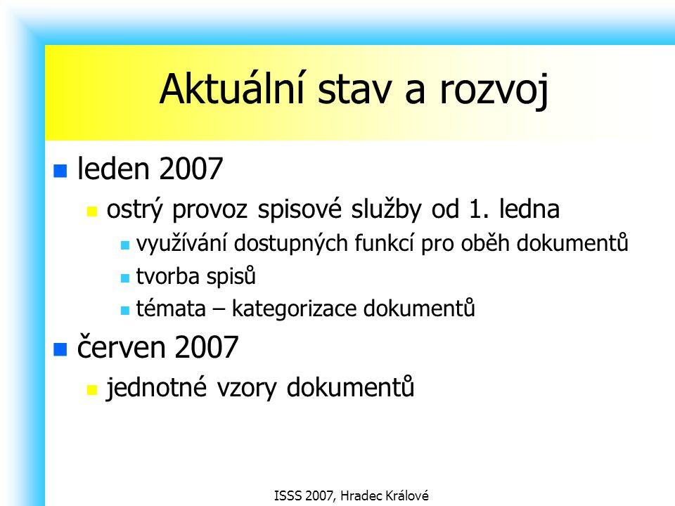 Aktuální stav a rozvoj leden 2007 červen 2007