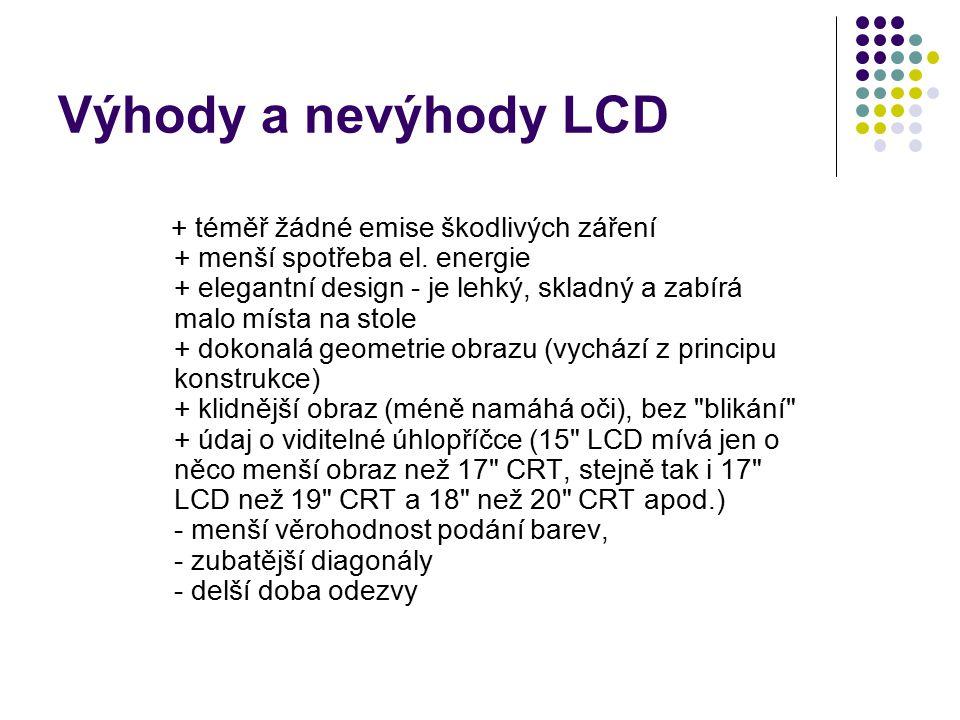 Výhody a nevýhody LCD