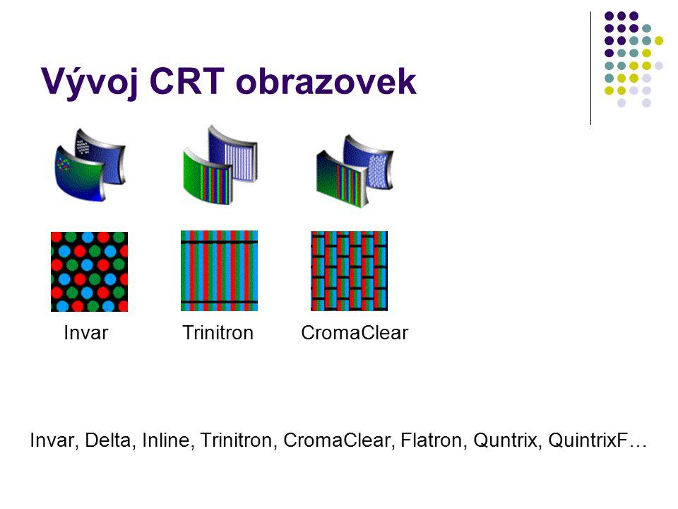 Vývoj CRT obrazovek Invar Trinitron CromaClear