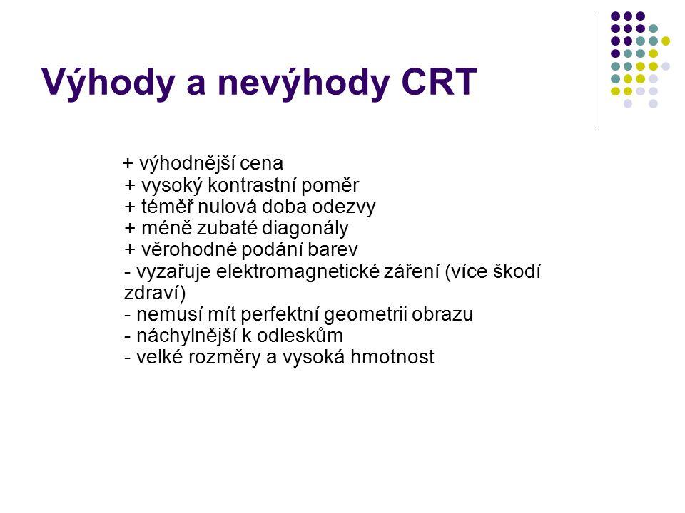 Výhody a nevýhody CRT
