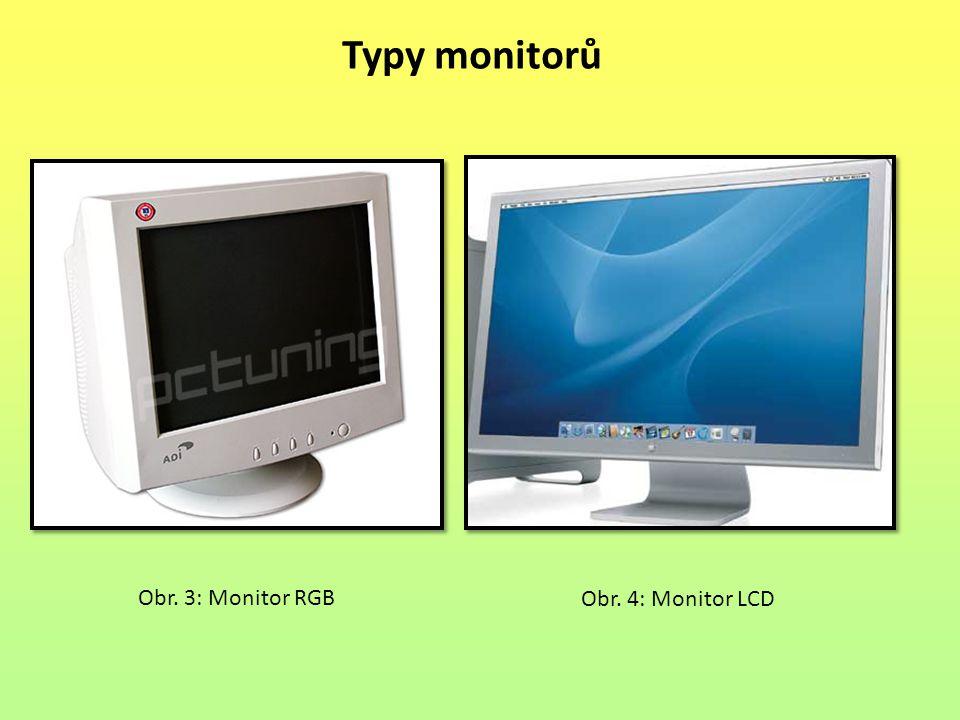 Typy monitorů Obr. 3: Monitor RGB Obr. 4: Monitor LCD