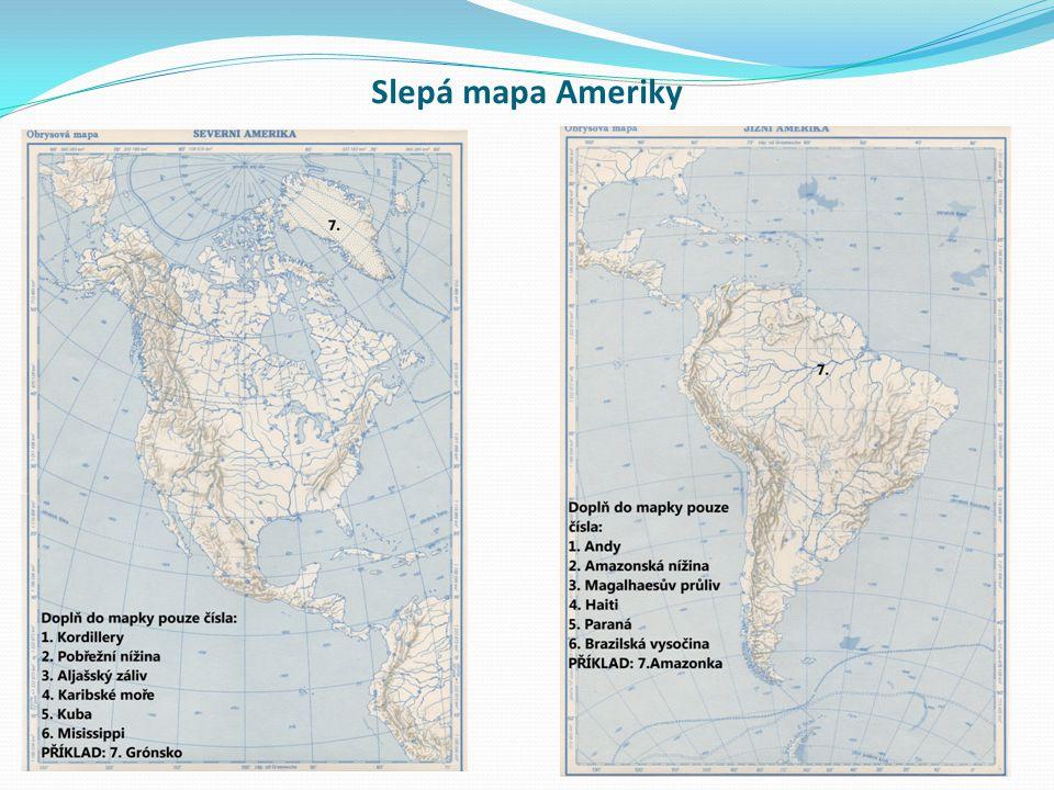 Slepá mapa Ameriky