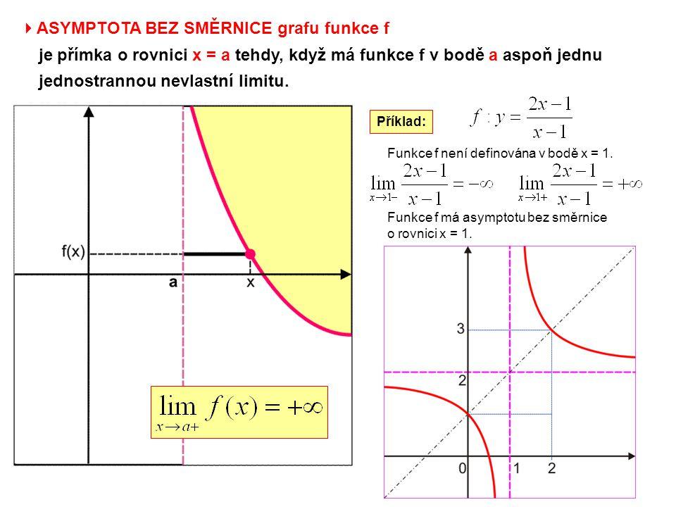ASYMPTOTA BEZ SMĚRNICE grafu funkce f
