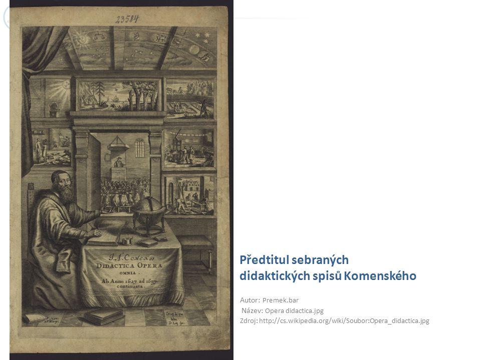 Předtitul sebraných didaktických spisů Komenského