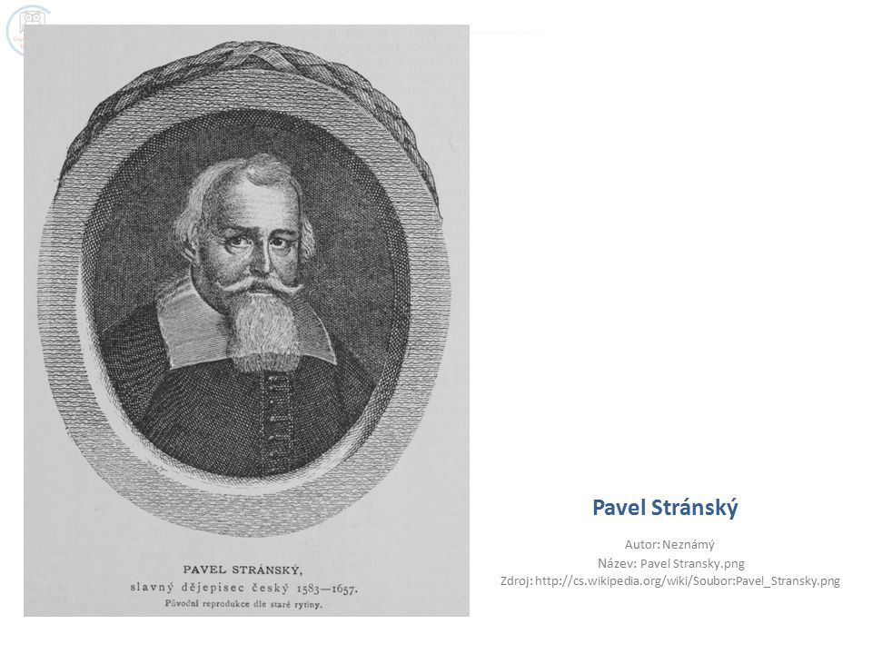 Pavel Stránský Autor: Neznámý Název: Pavel Stransky.png