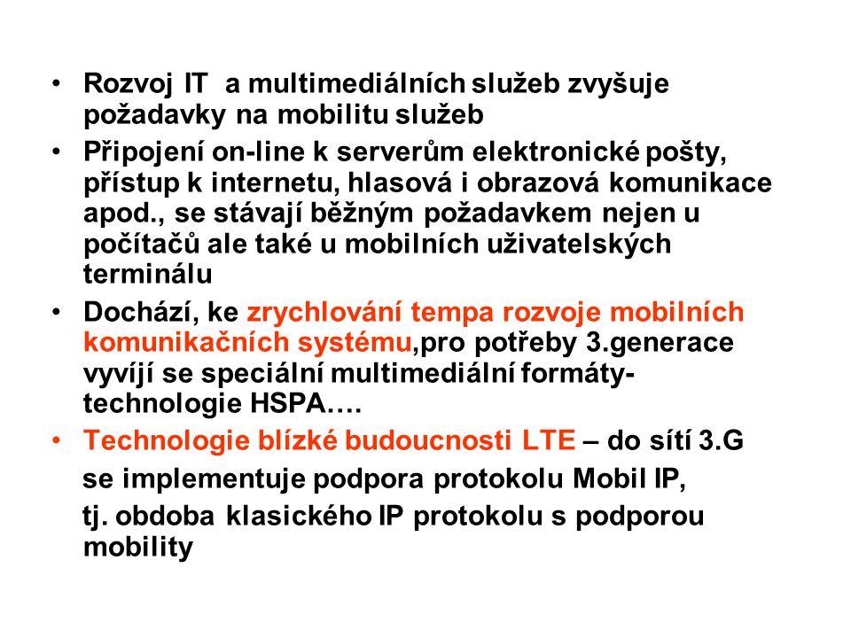 Rozvoj IT a multimediálních služeb zvyšuje požadavky na mobilitu služeb