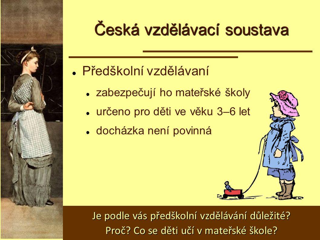 Česká vzdělávací soustava