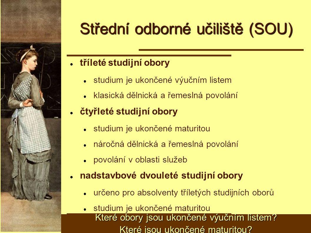 Střední odborné učiliště (SOU)
