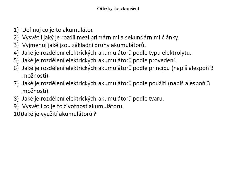 Definuj co je to akumulátor.