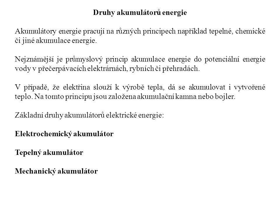 Druhy akumulátorů energie