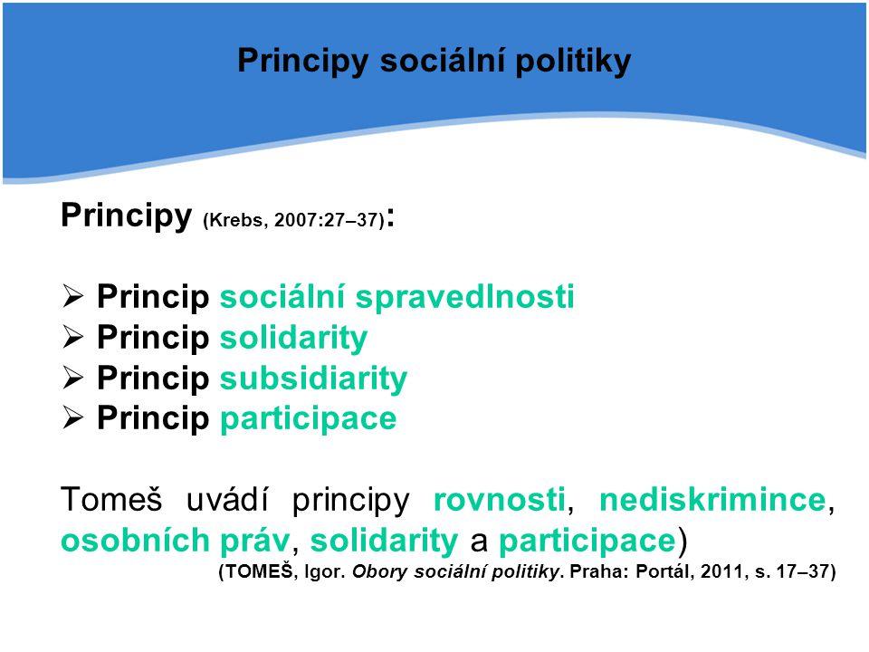 Principy sociální politiky