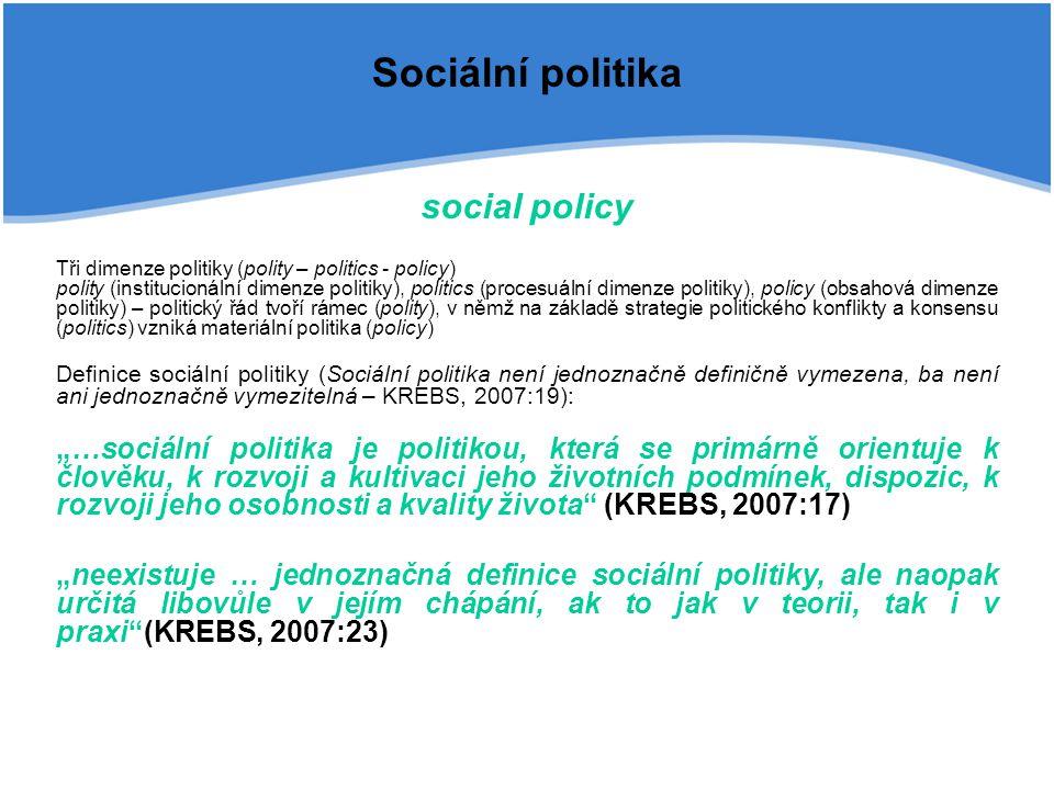 Sociální politika social policy