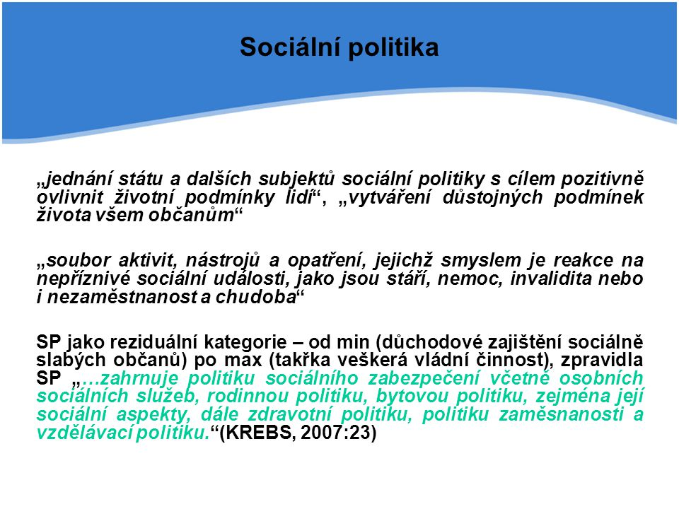 Sociální politika