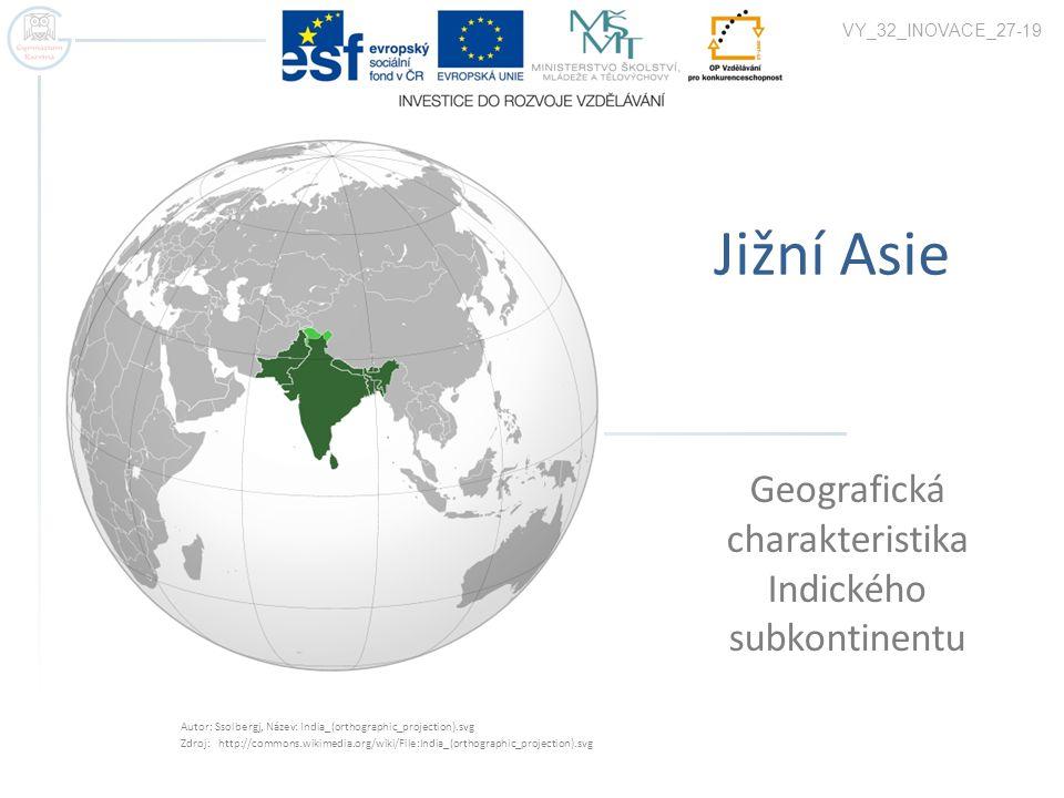 Geografická charakteristika Indického subkontinentu