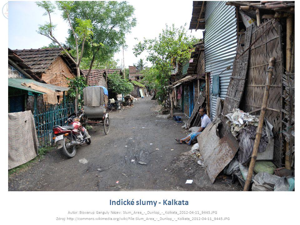 Indické slumy - Kalkata