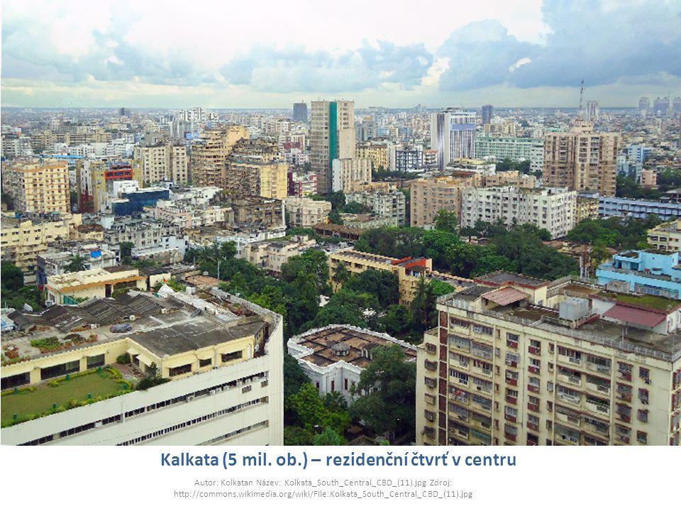 Kalkata (5 mil. ob.) – rezidenční čtvrť v centru