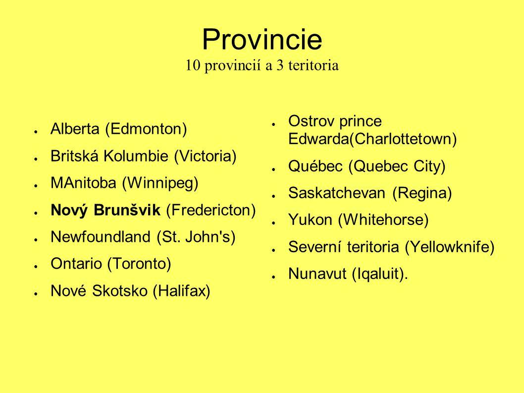 Provincie 10 provincií a 3 teritoria