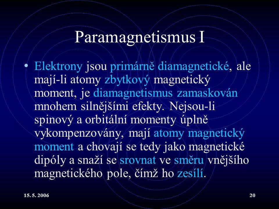 Paramagnetismus I