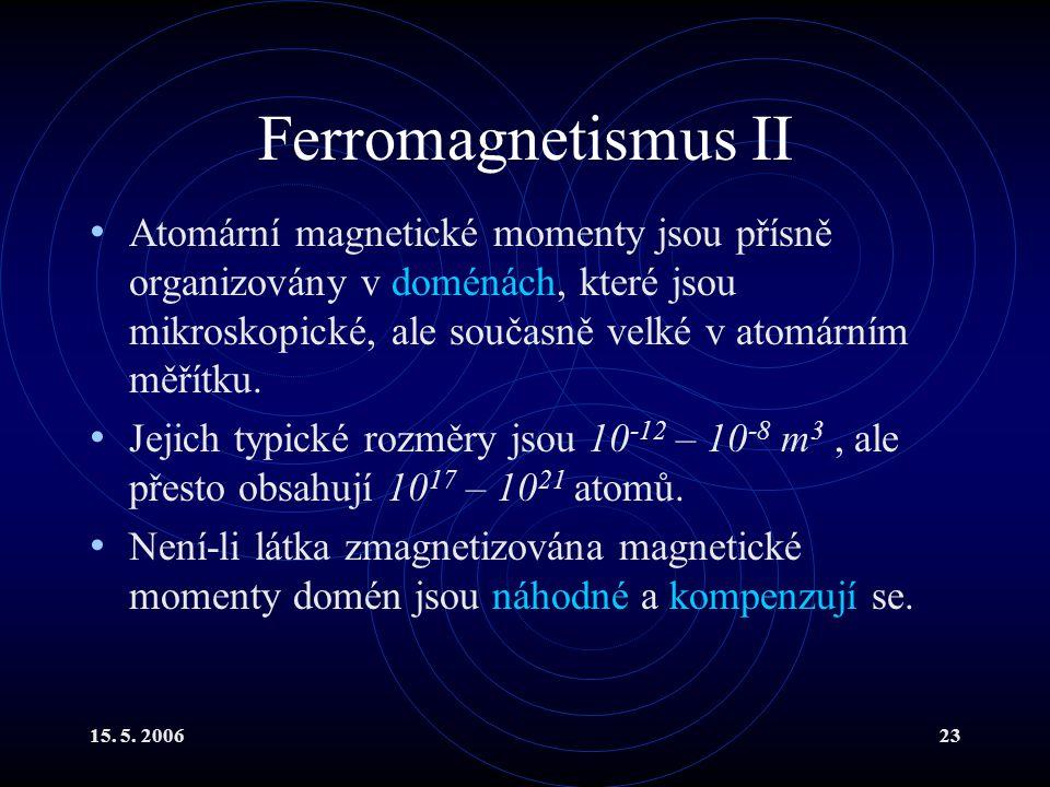 Ferromagnetismus II