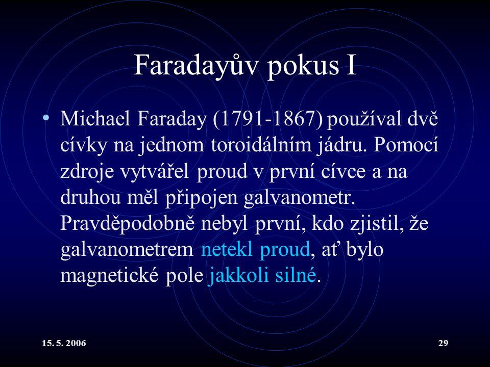 Faradayův pokus I