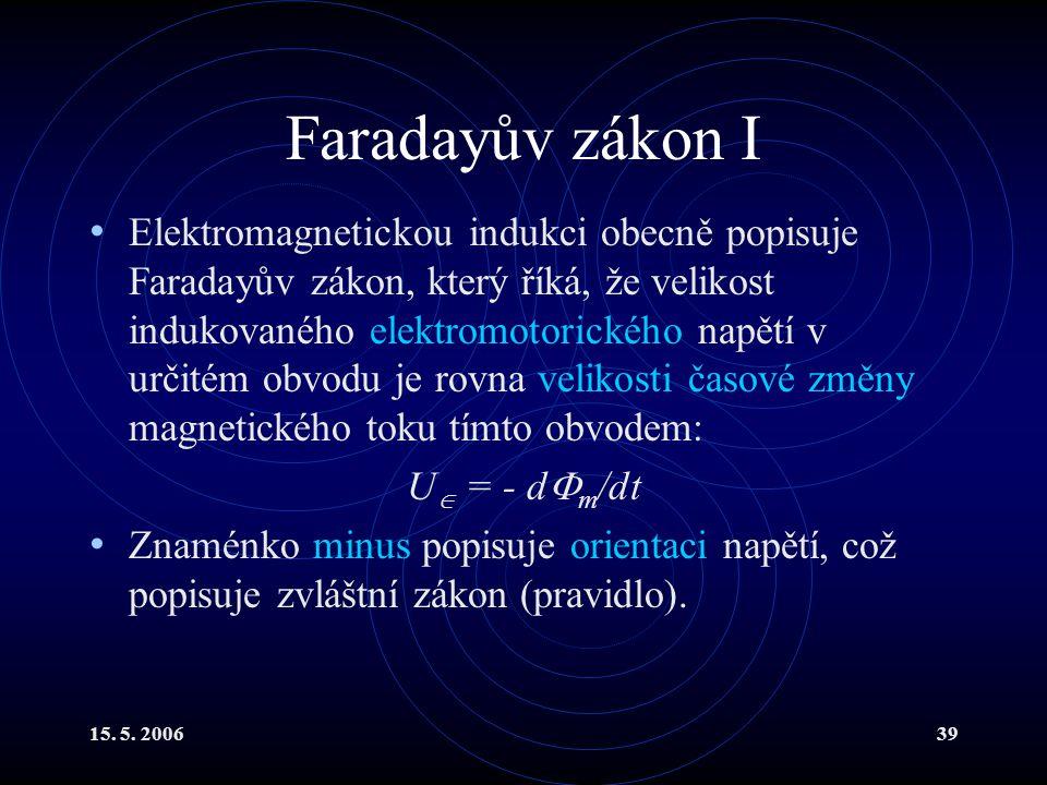 Faradayův zákon I