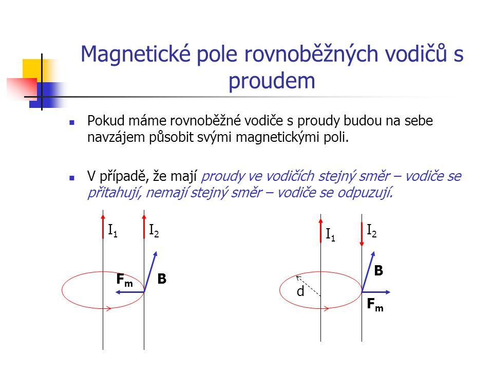 Magnetické pole rovnoběžných vodičů s proudem