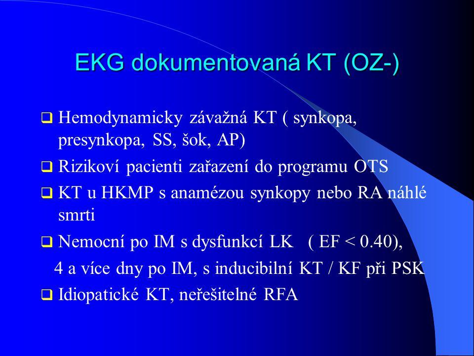 EKG dokumentovaná KT (OZ-)