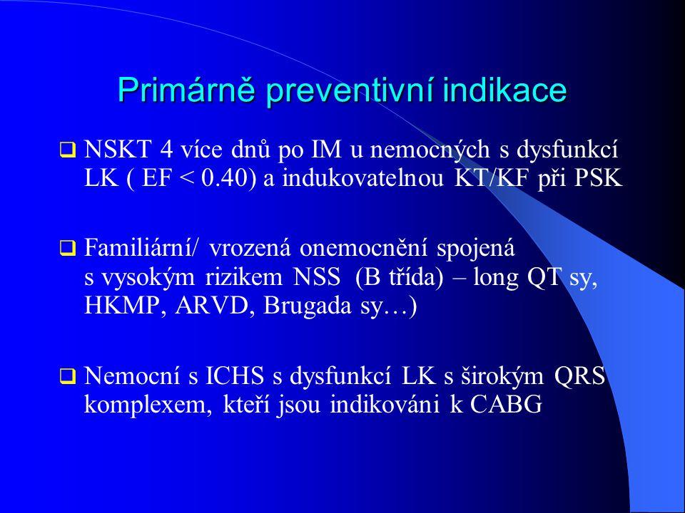 Primárně preventivní indikace