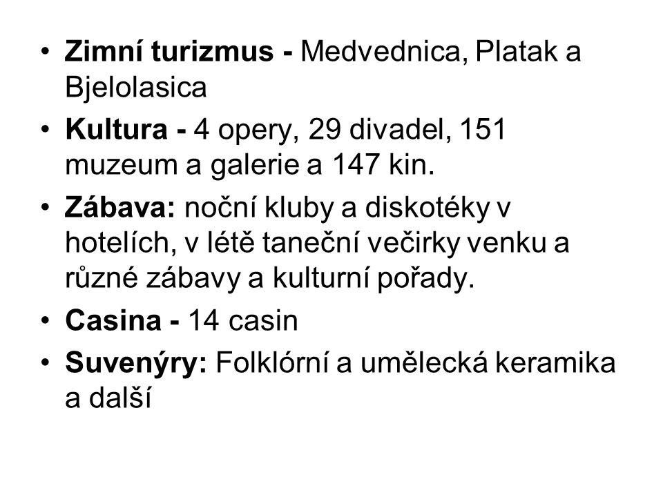 Zimní turizmus - Medvednica, Platak a Bjelolasica