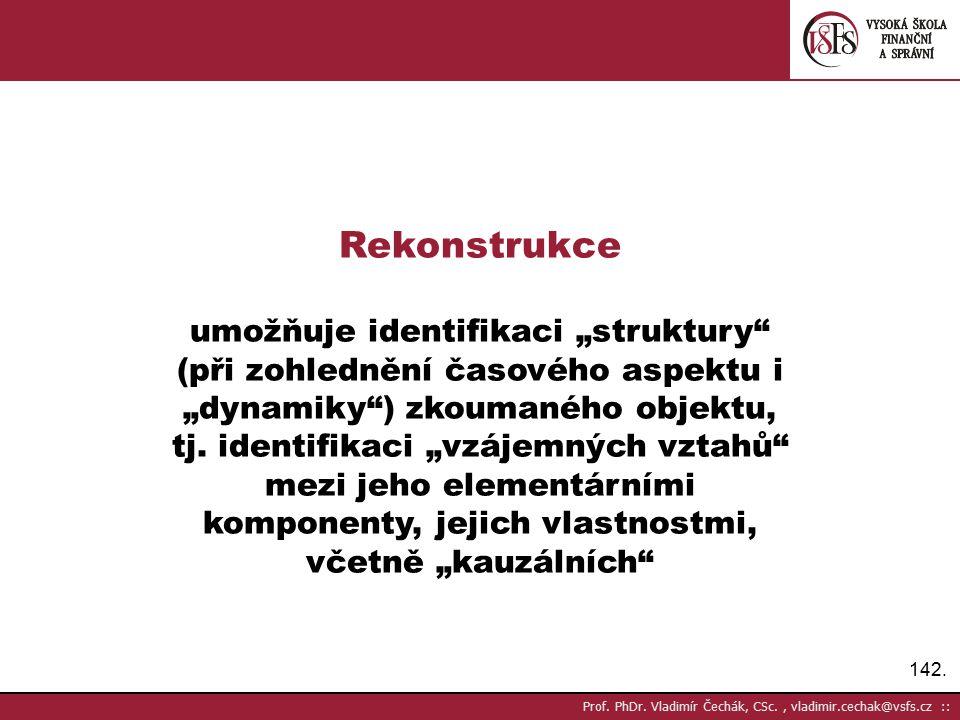 """Rekonstrukce umožňuje identifikaci """"struktury"""