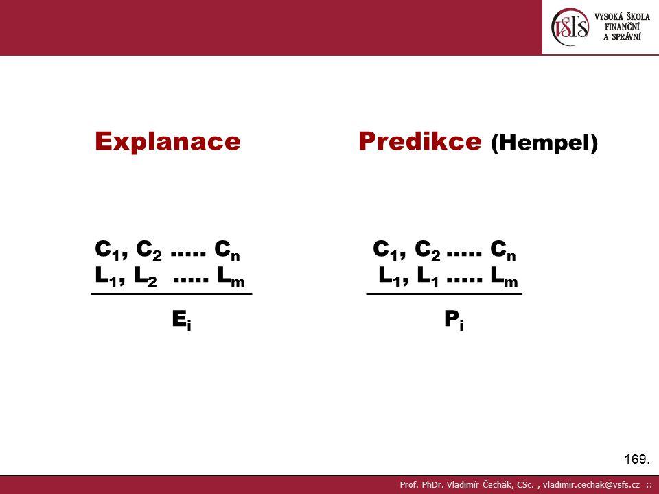 Explanace Predikce (Hempel)