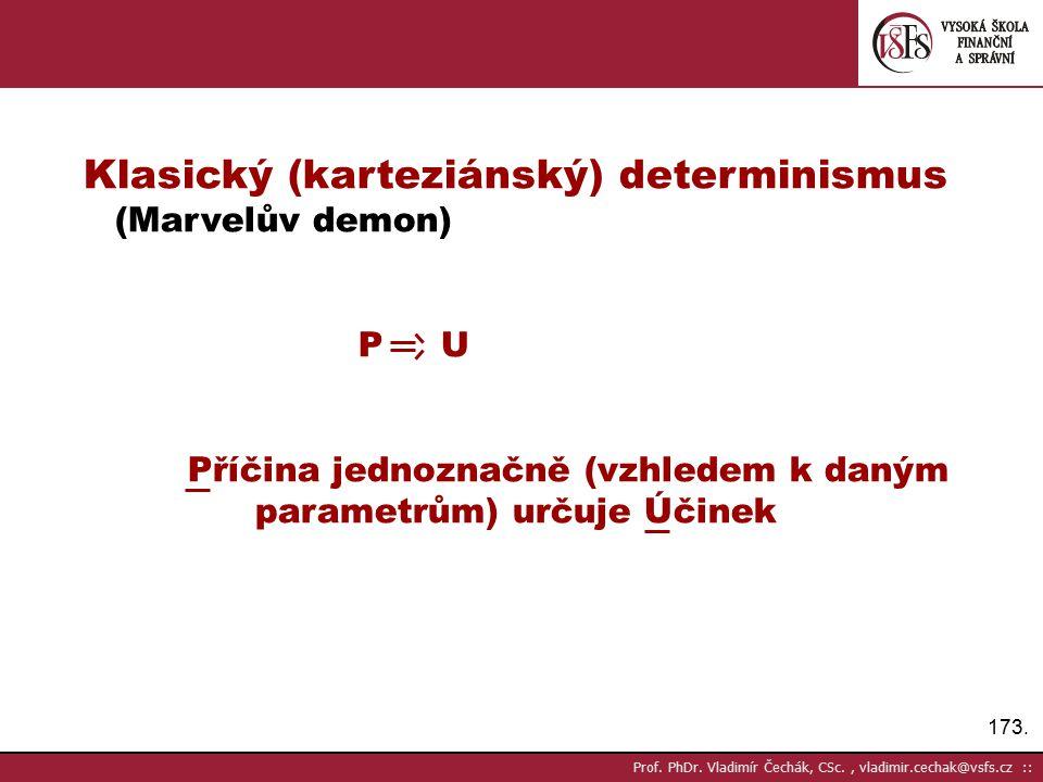 Klasický (karteziánský) determinismus