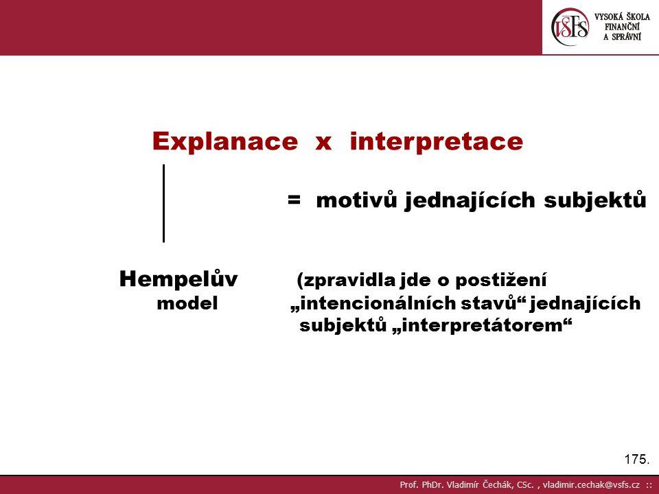 Explanace x interpretace