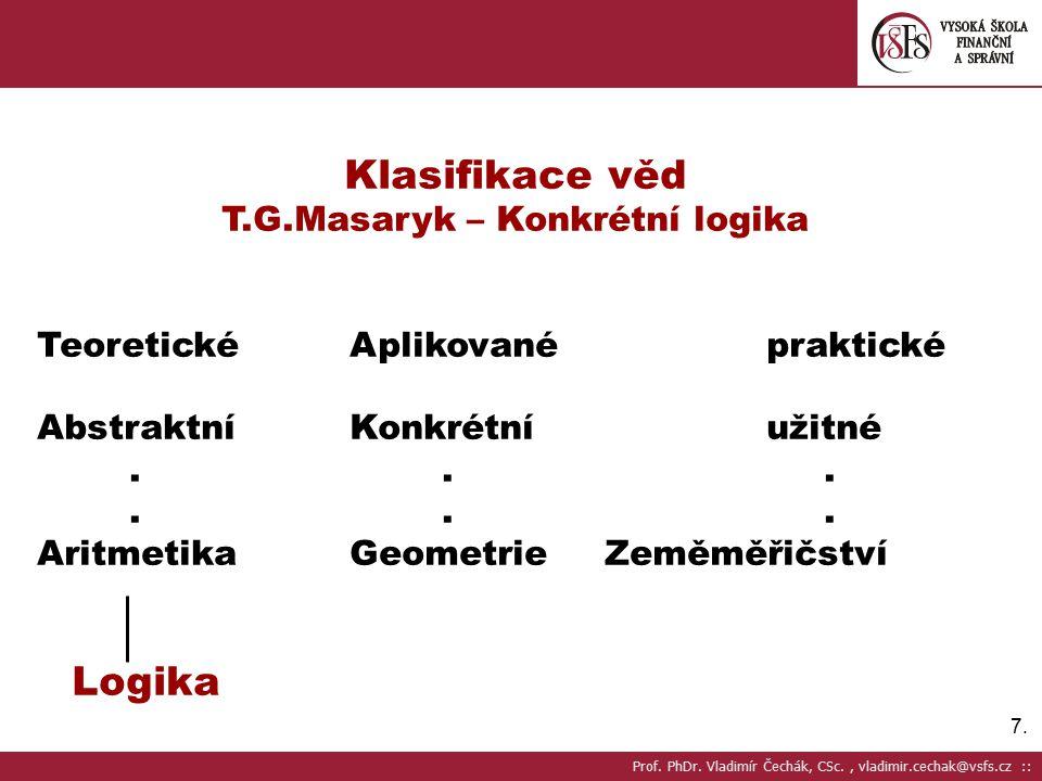 T.G.Masaryk – Konkrétní logika