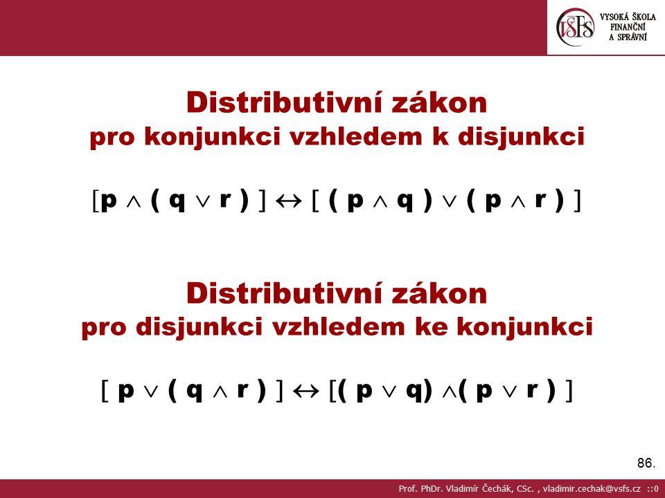 Distributivní zákon pro konjunkci vzhledem k disjunkci