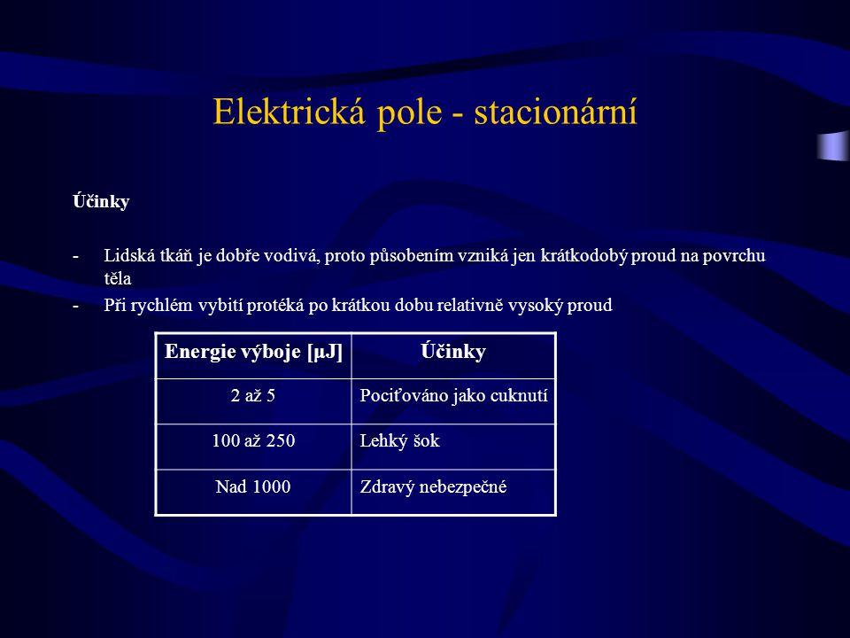 Elektrická pole - stacionární
